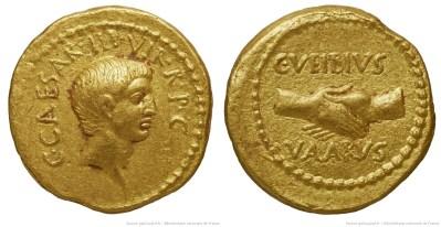 1590JU – Aureus Octave – Caius Vibius Varus