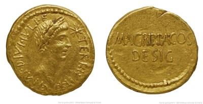 1730JU – Aureus Octave et Agrippa – Marcus Vipsanius Agrippa