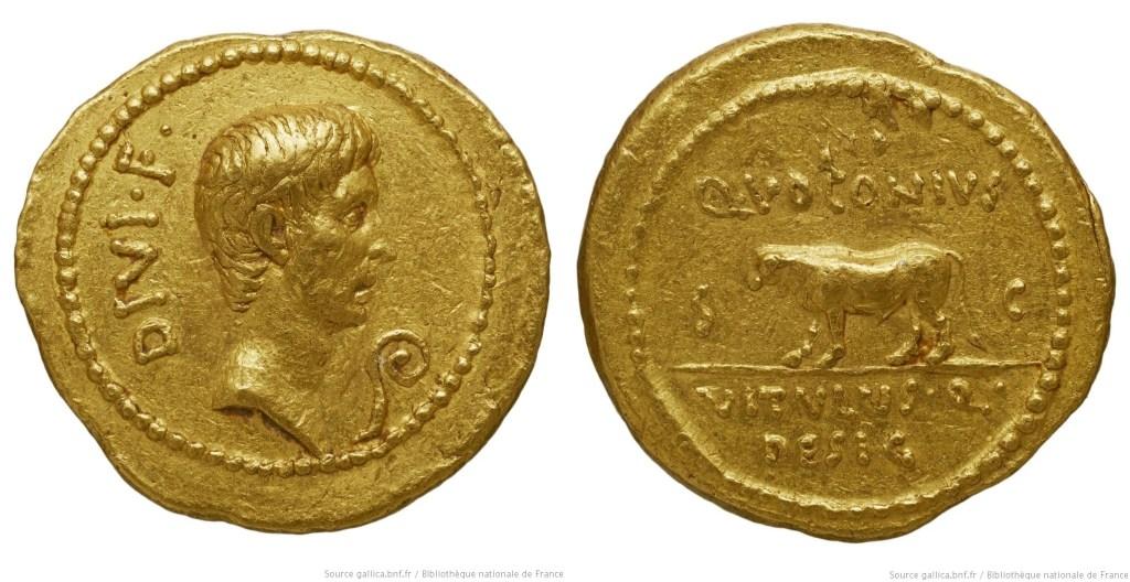 1714JU – Aureus Octave – Quintus Voconius Vitulus
