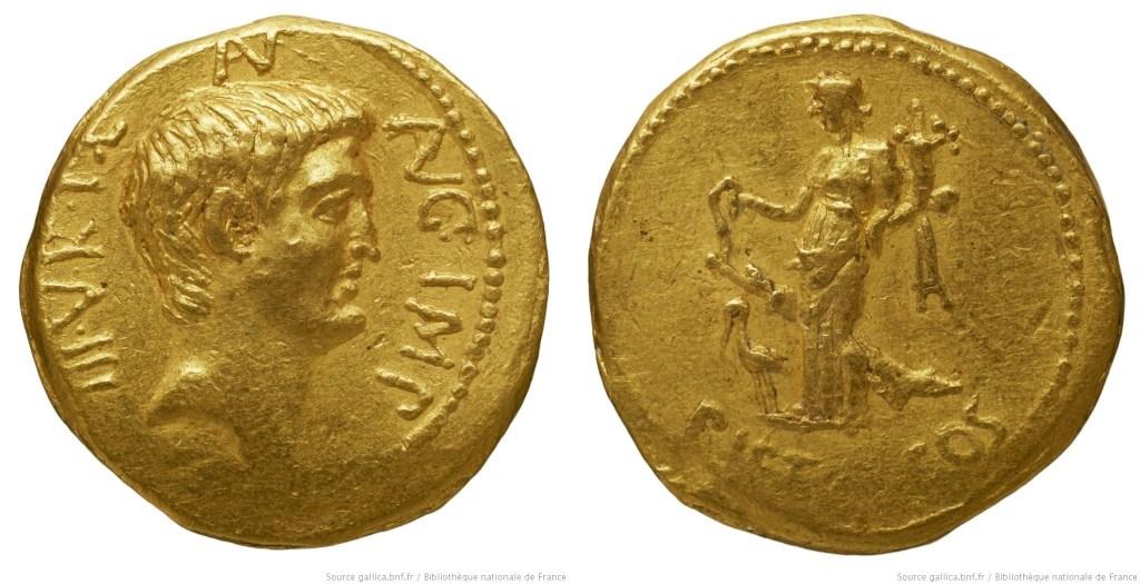 1680AN – Aureus Marc Antoine – Marcus Antonius