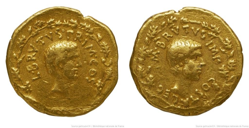 1652JU – Aureus Brutus – Pedanius Costa