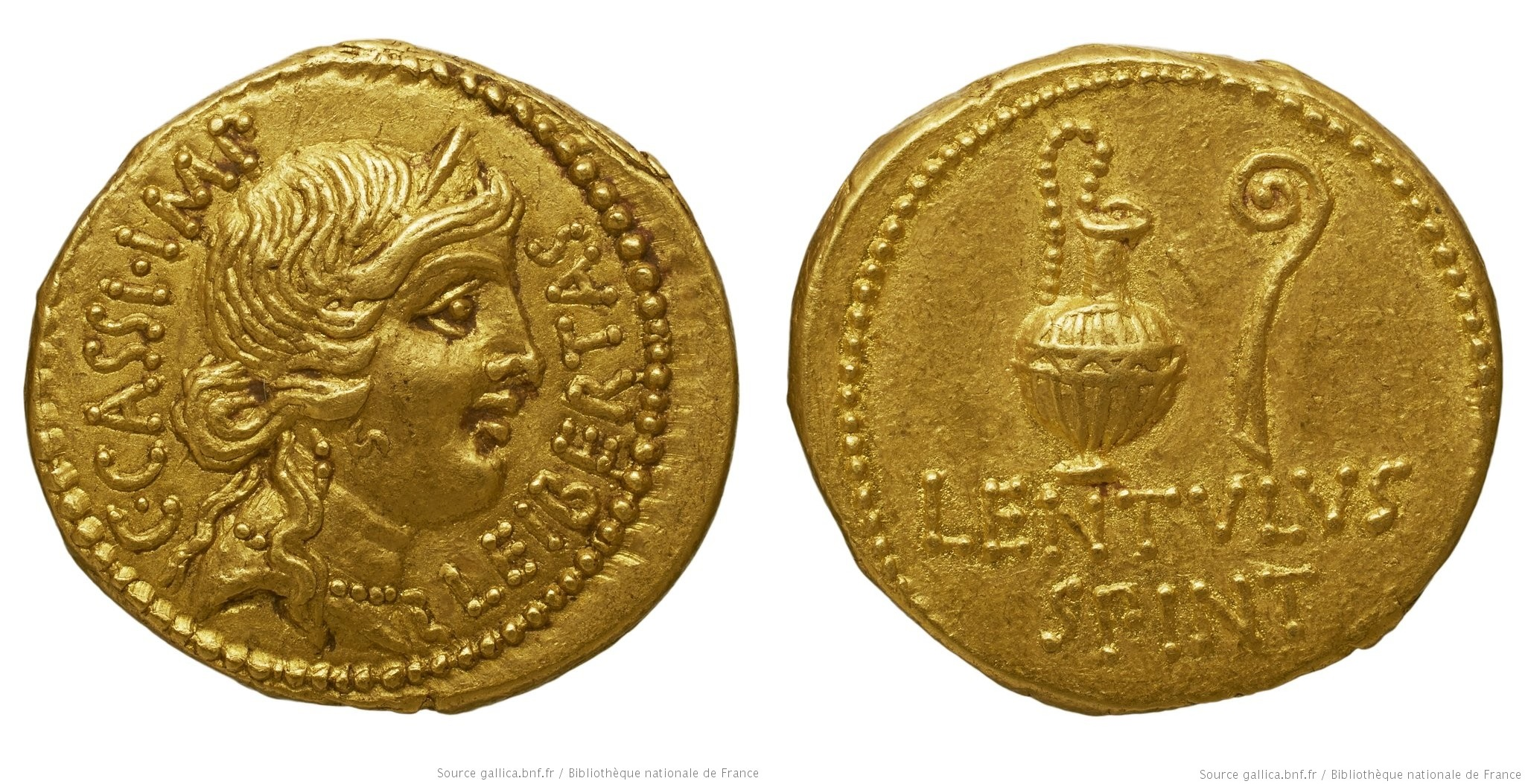 1634CA – Aureus Cassius – Lentulus Spinther