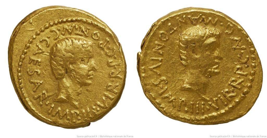 1578JU – Aureus Octave et Marc Antoine
