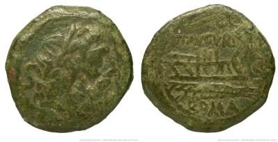 953MI – Semis Minucia –  Tiberius Minucius