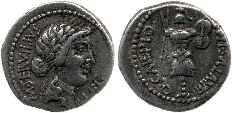 1651JU – Denier Brutus – Marcus Servilius