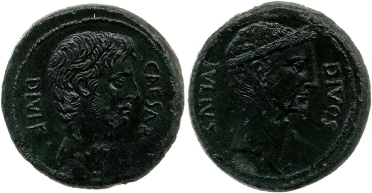 1733JU – Bronze Octave – Caius Julius Cæsar Octavianus