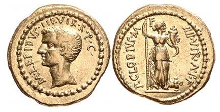 1582AE – Aureus Lépide – Publius Clodius