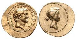 1716AN – Aureus Marc Antoine et Octavia – Marcus Antonius