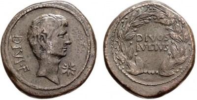 1734JU – Sesterce Octave – Caius Julius Cæsar Octavianus