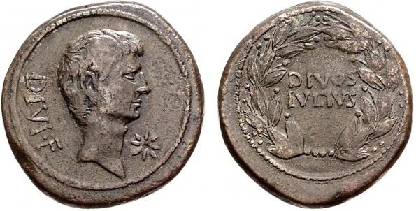 You are currently viewing 1734JU – Sesterce Octave – Caius Julius Cæsar Octavianus