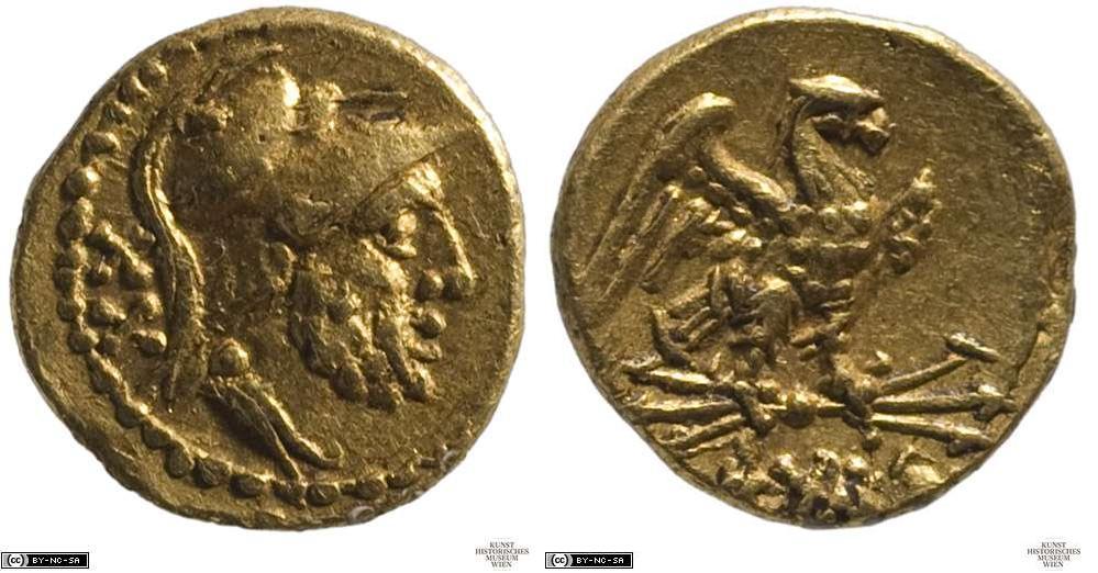275AN – Aureus de 20 As Anonyme