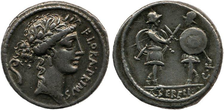 1392SE – Denier Servilia – Caius Servilius