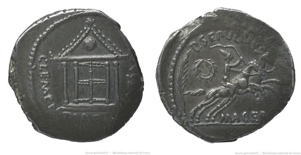 Read more about the article 1542JU – Denier César – Publius Sepullius Macer