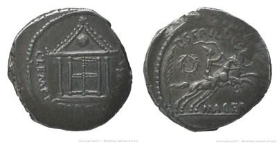 1542JU – Denier César – Publius Sepullius Macer