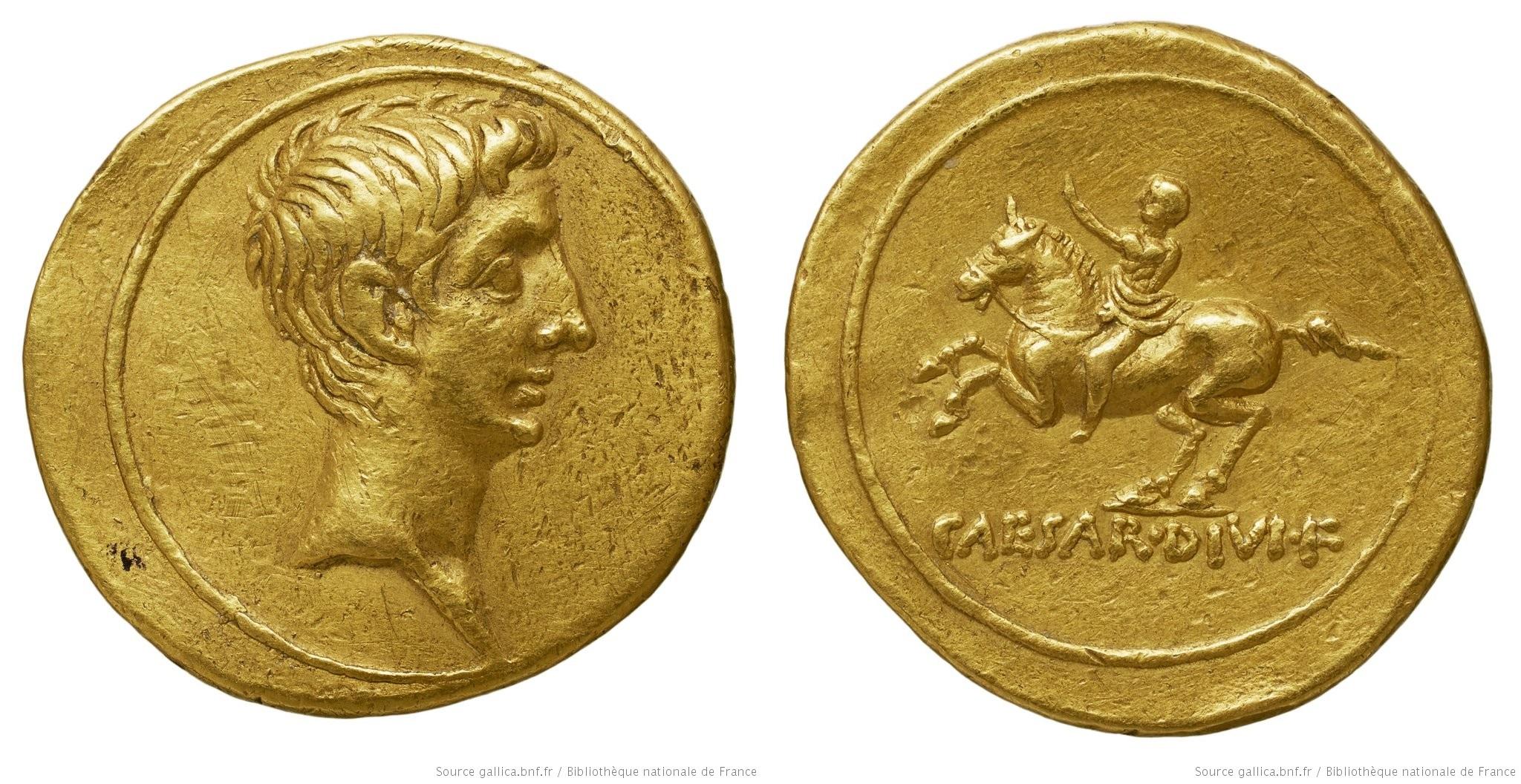 Le monnayage d'Octave de 32 à 27 avant J.C.