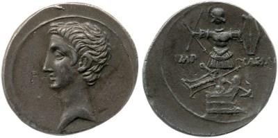 2019AU – Denier Octave – Caius Julius Cæsar Octavianus