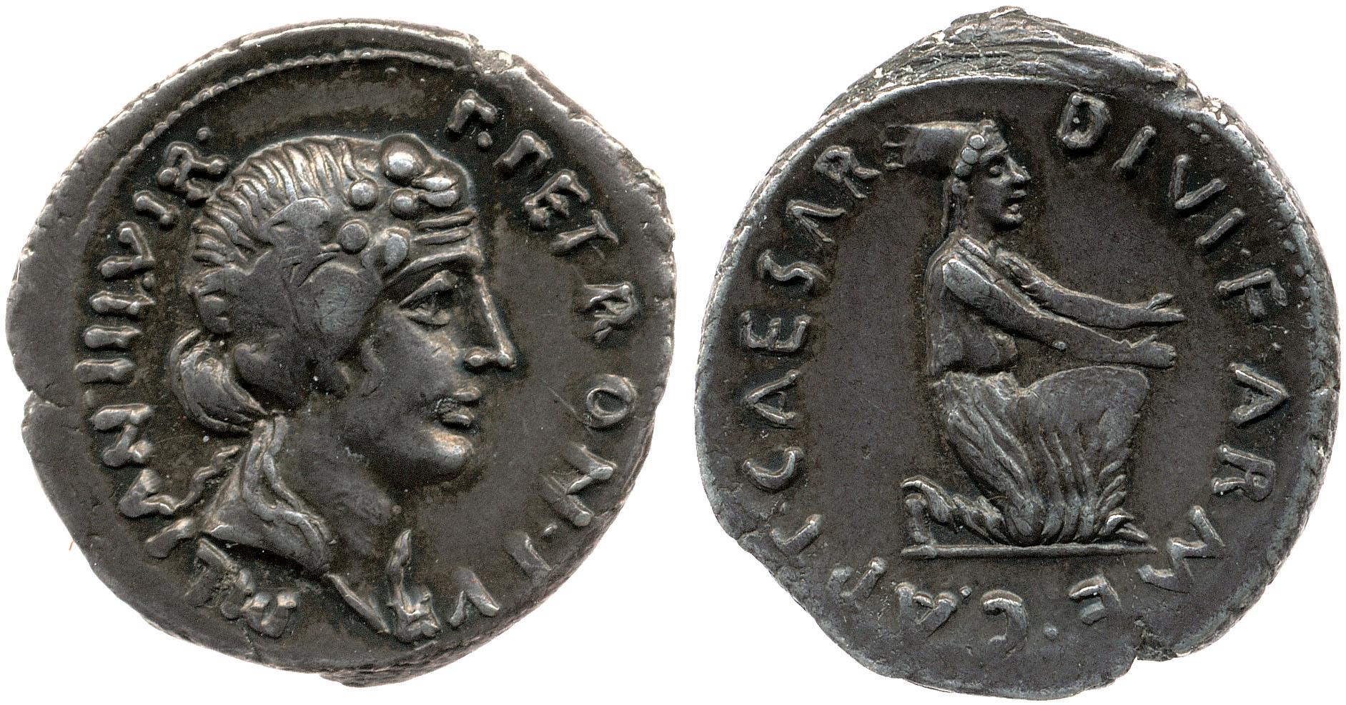 2049AU – Denier Auguste – P.Petronius Turpilianus