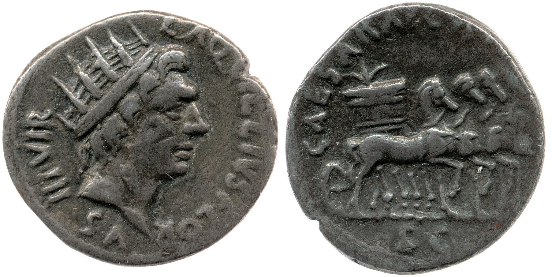 2060AU – Denier Auguste – L.Aquillius Florus