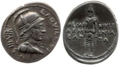 2064AU – Denier Auguste – L.Aquillius Florus