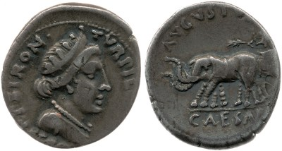 2041AU – Denier Auguste – P.Petronius Turpilianus
