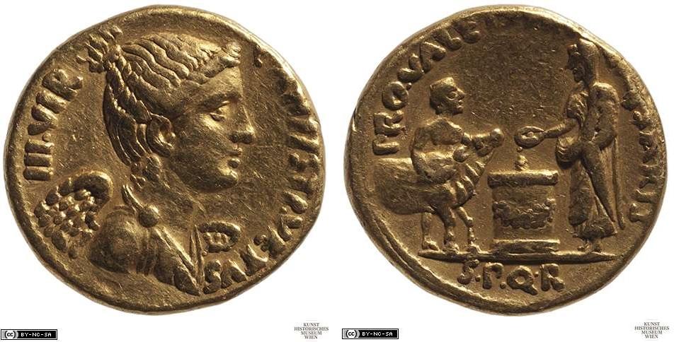 2114AU – Aureus Auguste – C. Antistius Vetus