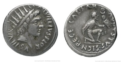 2061AU – Denier Auguste – L.Aquillius Florus