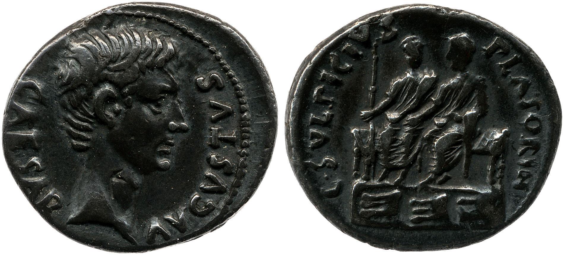 2146AU – Denier Auguste – Caius Sulpicius Platorinus