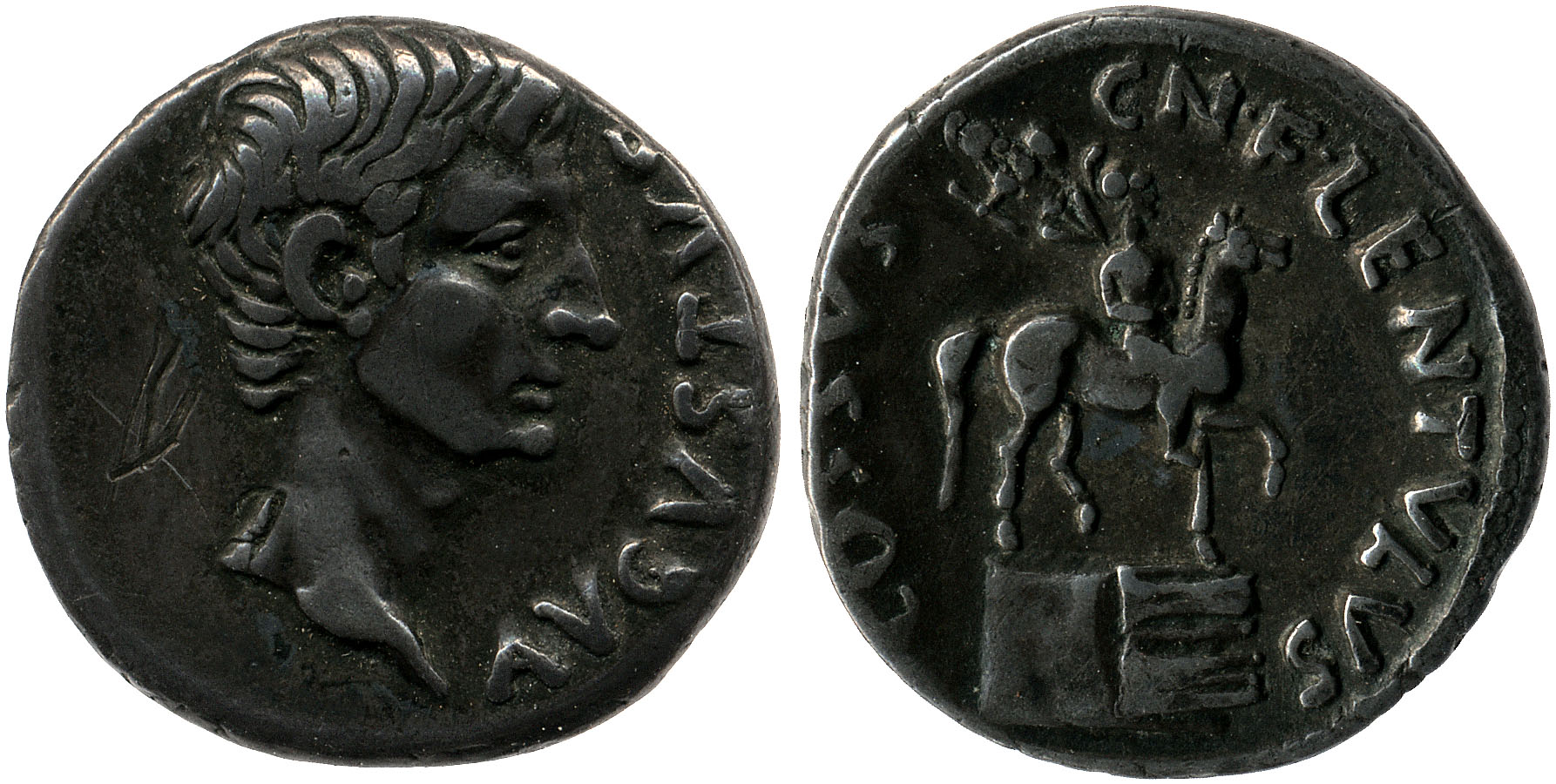 2151AU – Denier Auguste – Cossus Cornelius Lentulus