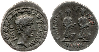 2140AU – Denier Auguste – C. Marius Tromentina