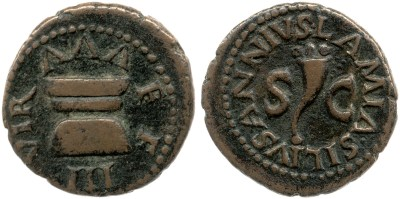 2160AU – Quadrans Auguste – Lamia, Silius et Annius