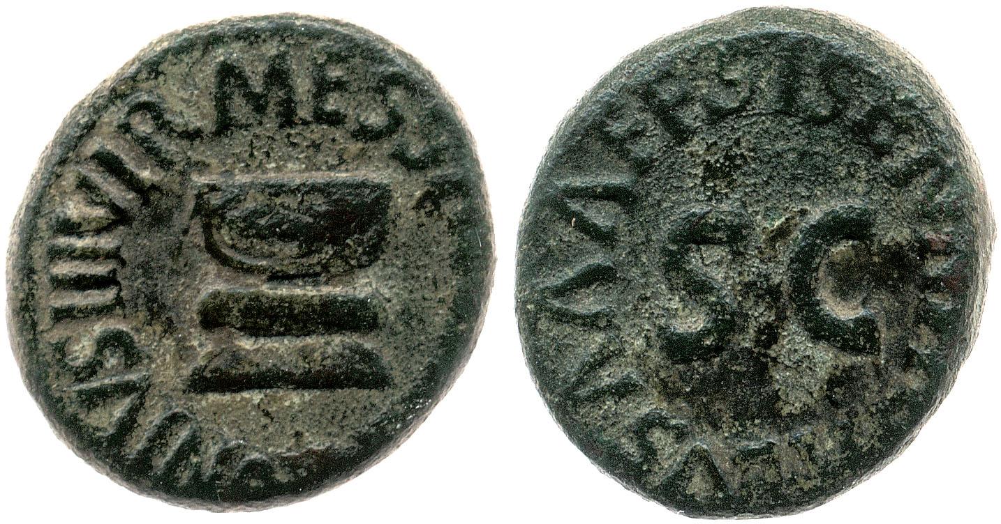 2190AU – Quadrans Auguste – Apronius, Galus, Messalla et Sisenna