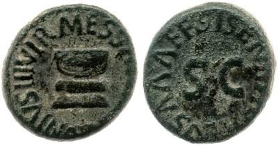 Read more about the article 2190AU – Quadrans Auguste – Apronius, Galus, Messalla et Sisenna