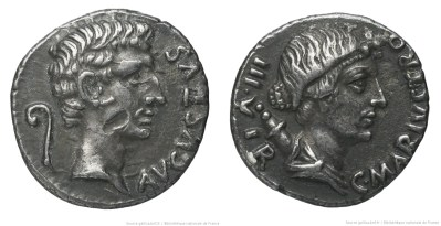2143AU – Denier Auguste – C. Marius Tromentina