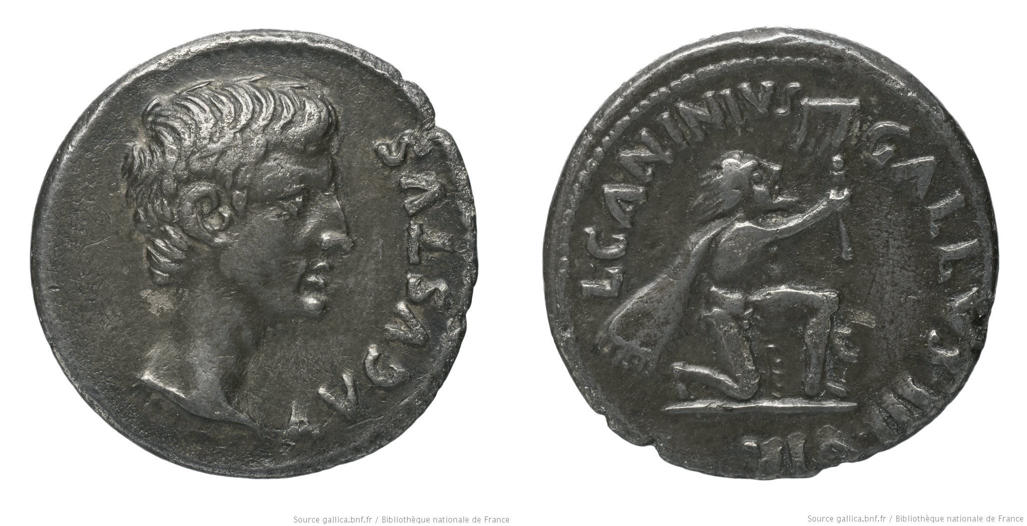 2154AU – Denier Auguste – C. Caninius Gallus