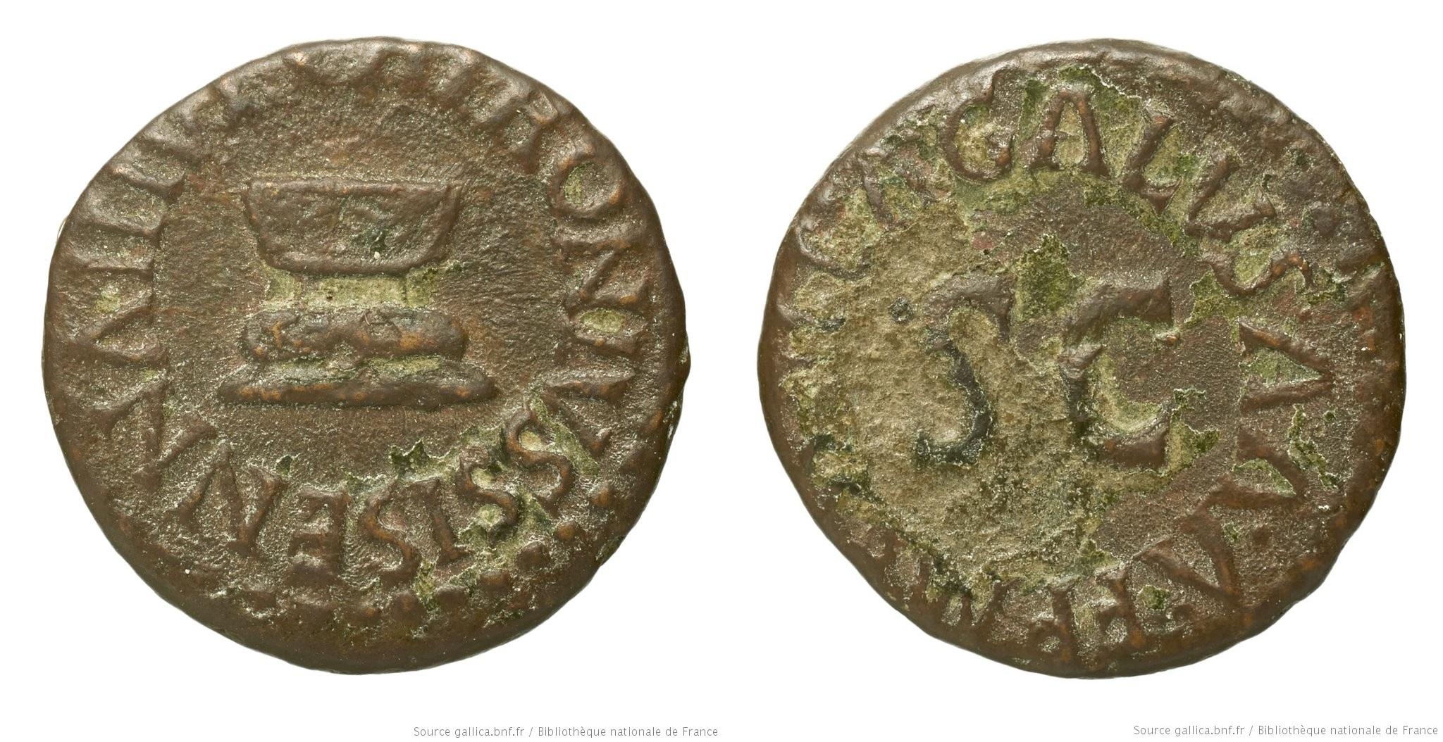 2182AU – Quadrans Auguste – Apronius, Galus, Messalla et Sisenna