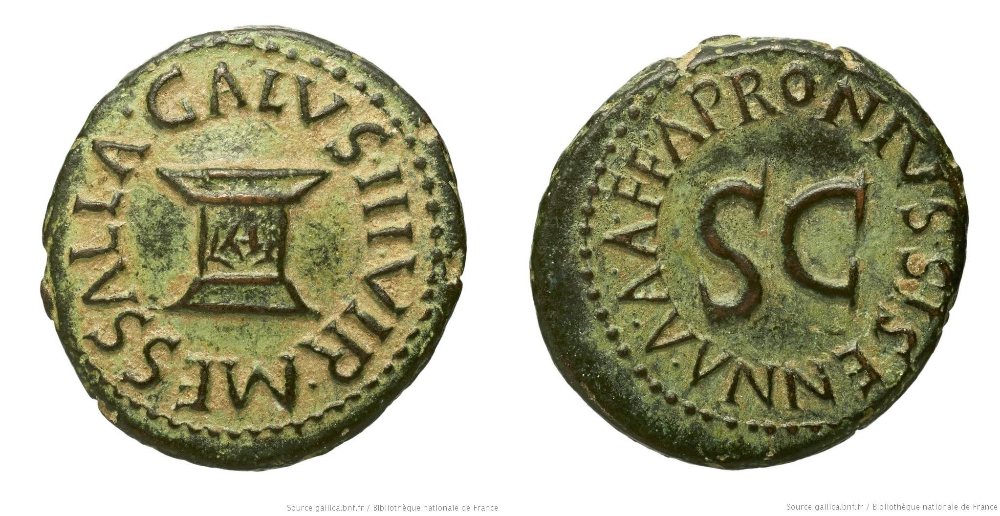 2191AU – Quadrans Auguste – Apronius, Galus, Messalla et Sisenna