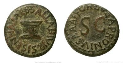 2196AU – Quadrans Auguste – Apronius, Galus, Messalla et Sisenna