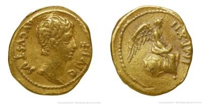 2235AU – Quinaire d'Or Auguste