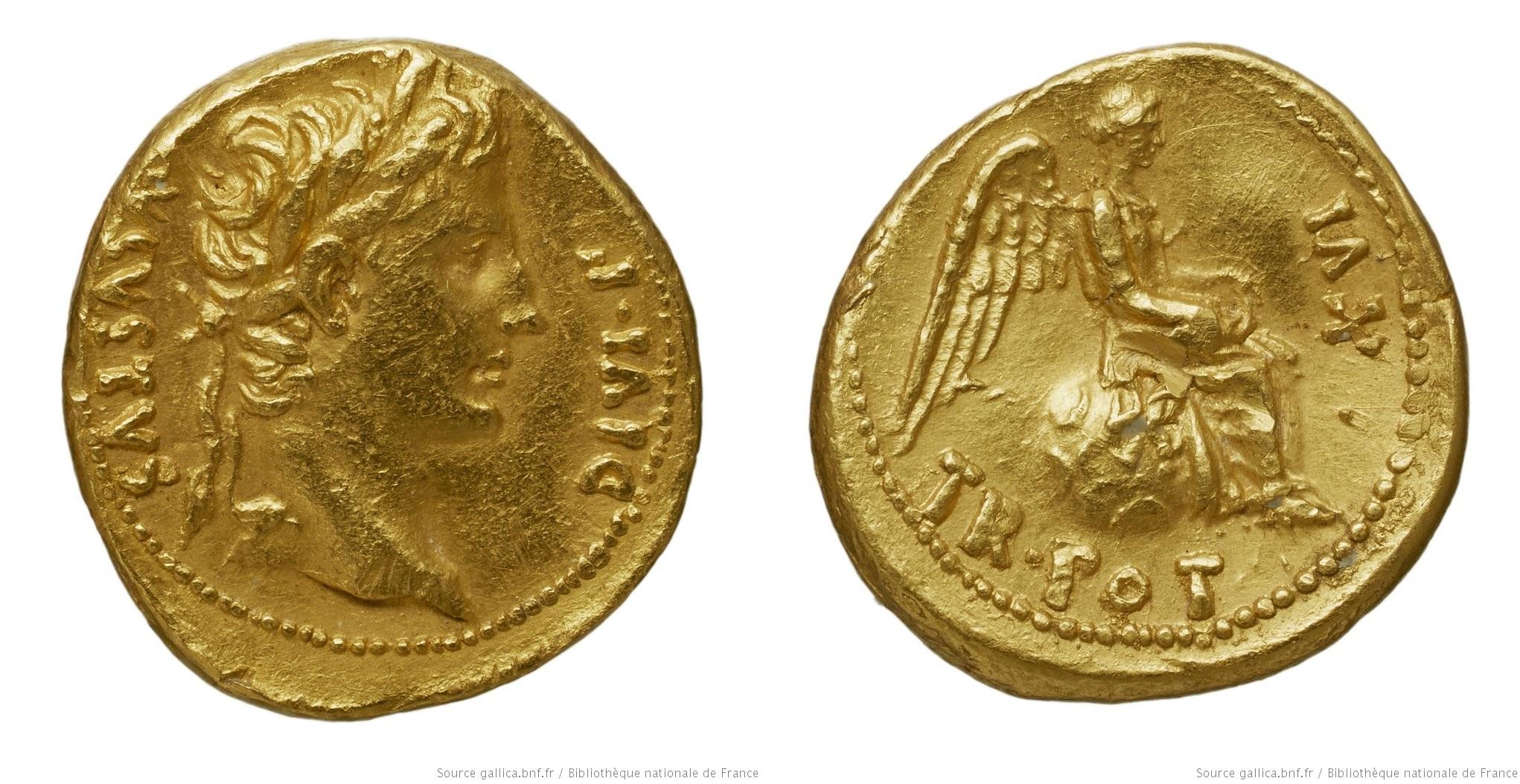 2264AU – Quinaire d'Or Auguste