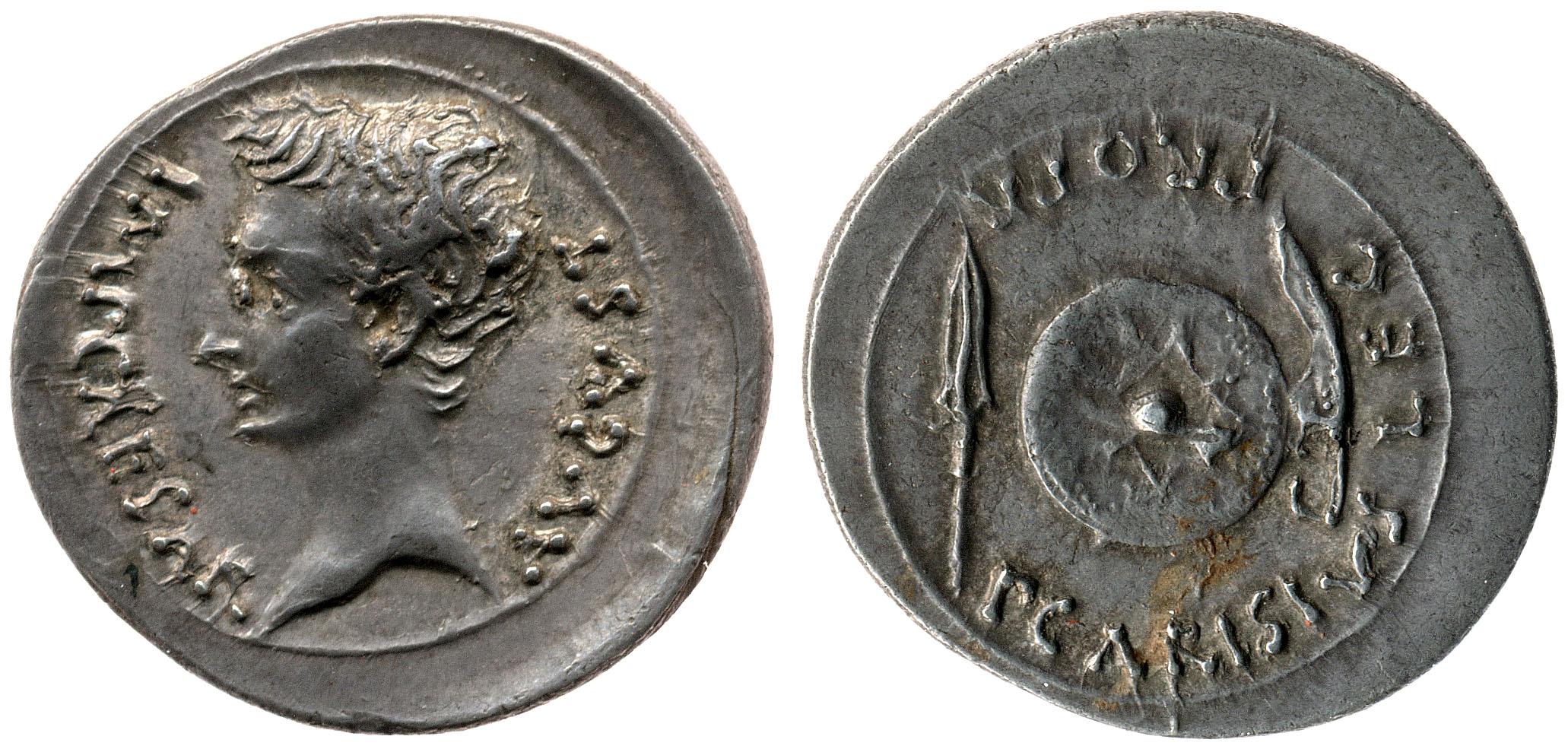 2439AU – Denier Auguste – P. Carisius