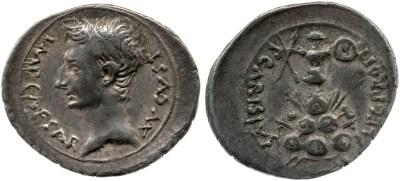 2442AU – Denier Auguste – P. Carisius