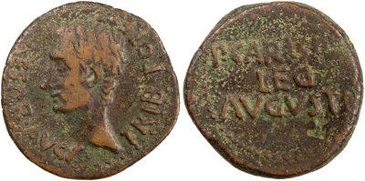 2457AU – As Auguste – P. Carisius