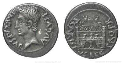 2450AU – Denier Auguste – P. Carisius