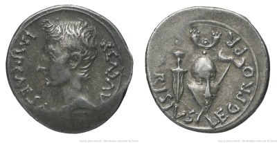 2447AU – Denier Auguste – P. Carisius