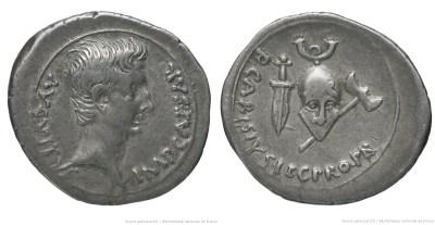 2448AU – Denier Auguste – P. Carisius