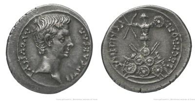 2443AU – Denier Auguste – P. Carisius