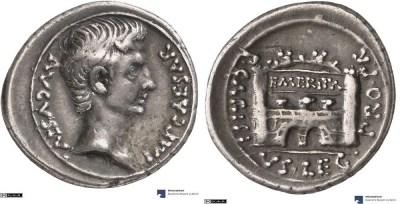 2451AU – Denier Auguste – P. Carisius