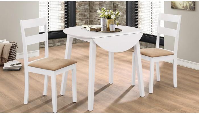 dallas ensemble table ronde 2 chaises