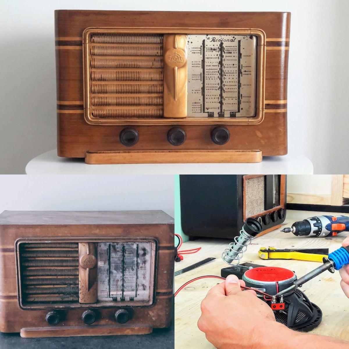rénovation modernisation radio vintage bluetooth