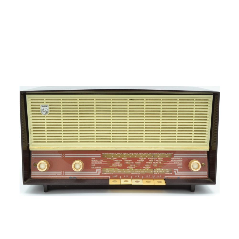 Philips 1956 B3X / enceinte bluetooth poste radio vintage Les Doyens